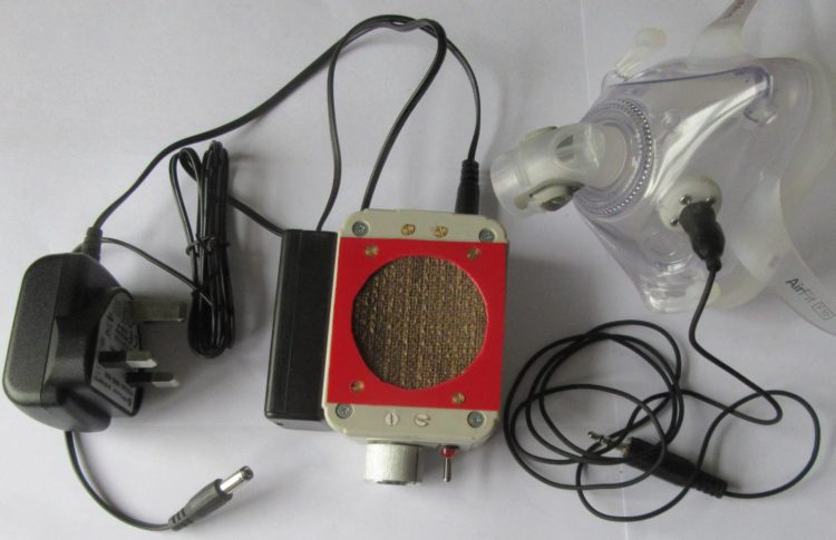 Mask, Microphone, Amplifier, Power supply