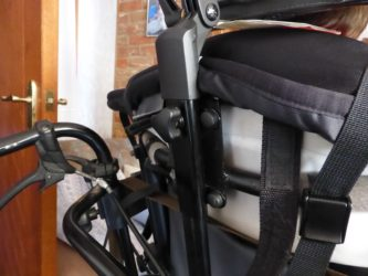 View of headrest on another wheelchair